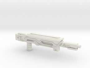 Earth Wars Laser Rifle (5mm) in White Natural Versatile Plastic