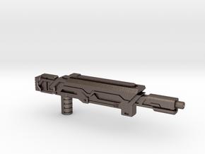 Earth Wars Laser Rifle (5mm) in Polished Bronzed-Silver Steel