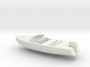 Printle Thing Speed Boat - 1/48 in White Natural Versatile Plastic