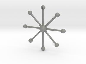 Star Keychain in Gray PA12