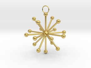 Multiple Dot Star Keychain in Polished Brass