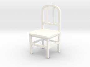 Chair in White Processed Versatile Plastic