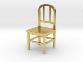 Chair in Polished Brass