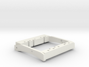TGH C1-V1 Dual Servo Mount For 76mm bumper mounts in White Natural Versatile Plastic