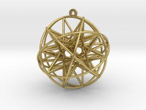 "Super Penta Sphere 2"" Pendant in Natural Brass"