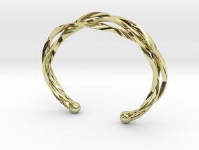 Vision Bracelet  in 18k Gold Plated Brass