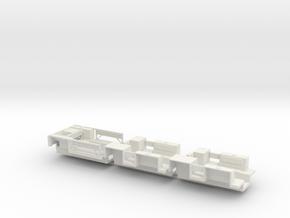 7203C • 1×British M14 and 2×M9A1 Half-track Bodies in White Natural Versatile Plastic