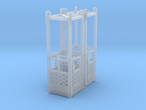man basket (1 person) -  1:50 - 2X in Smooth Fine Detail Plastic