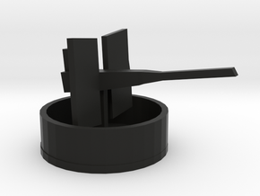 20mm Oerlikon with tub in Black Natural Versatile Plastic: 1:300