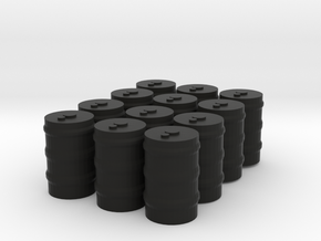 12 55 gallon drums in Black Natural Versatile Plastic: 1:300