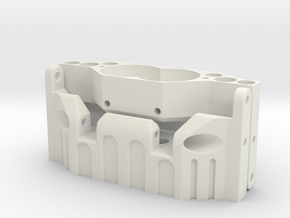 Verteilergetriebe-Skidplatte SCX10 in White Natural Versatile Plastic