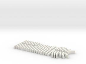1/87 H0 Bordsteine HB15/30 in White Natural Versatile Plastic