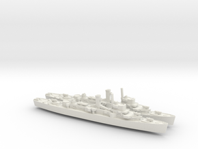 USS England x2 (Buckley Class) 1/1250 in White Natural Versatile Plastic
