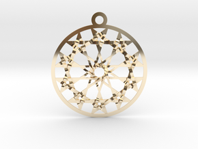 Twelve 5 pointed Stars in 14K Yellow Gold