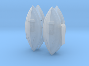 Gelgoog and Knuckle Shields in Smooth Fine Detail Plastic: 1:450 - T