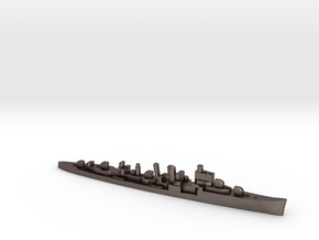 HMS Delhi 1:3000 WW2 naval cruiser in Polished Bronzed-Silver Steel