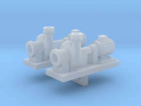 Zentrifugalpumpe neuere Bauart 2erSet - TT 1:120 in Smooth Fine Detail Plastic