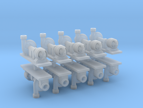 Zentrifugalpumpe ältere Bauart 10erSet - TT 1:120 in Smooth Fine Detail Plastic