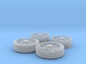 Damaged C135843 E8 Wheel Set in Smoothest Fine Detail Plastic