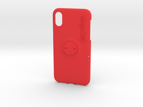 iPhone X Garmin Mount Case - Centre in Red Processed Versatile Plastic