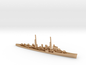 HMS Delhi (masts) 1:1800 WW2 naval cruiser in Natural Bronze