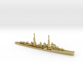 HMS Delhi (masts) 1:1800 WW2 naval cruiser in Natural Brass