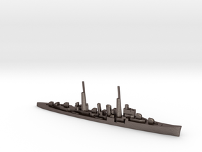 HMS Delhi (masts) 1:1800 WW2 naval cruiser in Polished Bronzed-Silver Steel