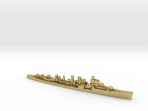 HMS Delhi 1:1800 WW2 naval cruiser in Natural Brass