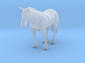 S Scale Clydesdale Horse in Smooth Fine Detail Plastic