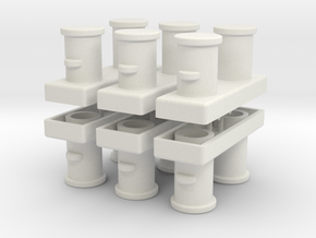 Double Bollards acc. ISO 3913 - 1:50 - 6X in White Natural Versatile Plastic
