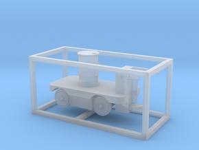 E-Karren Flachwagen 1x 200l Fass - 1:120 TT in Smooth Fine Detail Plastic