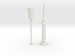 Printle Thing Lampost - 1/24 in White Natural Versatile Plastic
