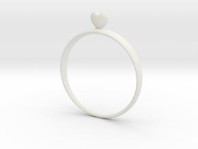 Loving You (size 60) in White Natural Versatile Plastic