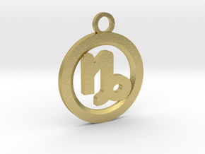 Capricorn in Natural Brass