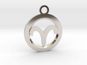 Aries in Rhodium Plated Brass