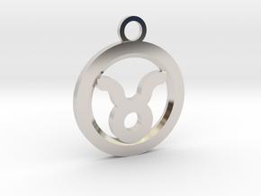 Taurus in Rhodium Plated Brass