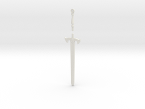 Knight's Sword in White Natural Versatile Plastic