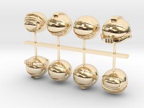 SpaceHelmet SET in 14k Gold Plated Brass