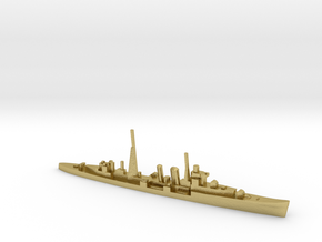 HMS Colombo (masts) 1:1800 WW2 naval cruiser in Natural Brass
