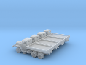 4 X 1/220 M35 2.5 ton Cargo Truck Open Bed in Smooth Fine Detail Plastic