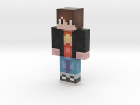 AlexHero8-Cool-SU | Minecraft toy in Natural Full Color Sandstone