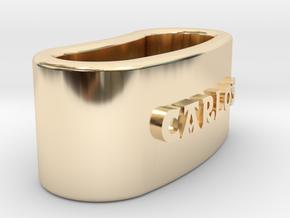 CARLOS Napkin Ring with lauburu in 14K Yellow Gold