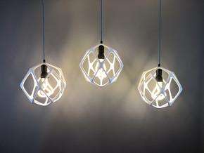 Organika lampshade (E27) in White Natural Versatile Plastic