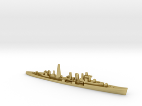 HMS Colombo (masts) 1:2400 WW2 naval cruiser in Natural Brass