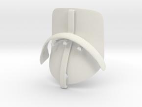 CAP in White Natural Versatile Plastic: Small