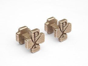 Christian Cufflinks 10 in Stainless Steel