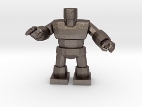 Dragon Quest Golem 1/60 miniature for games andRPG in Polished Bronzed-Silver Steel