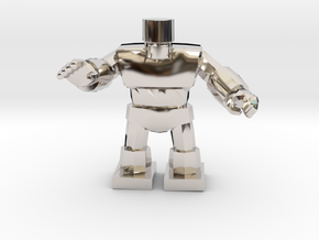Dragon Quest Golem 1/60 miniature for games andRPG in Rhodium Plated Brass
