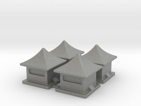 2mm / 3mm Scale China Style House in Gray PA12