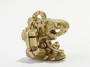 Aztec Bead Quetzalcoatl FA in Raw Brass